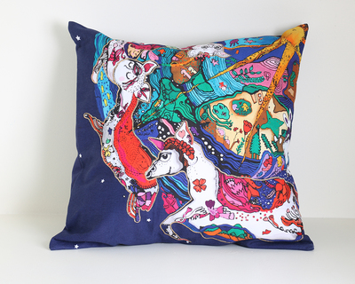 Universe on a carousal cushion cover thumb