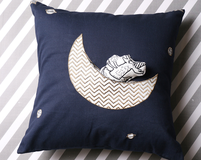 The moon s elves cushion cover and toy thumb