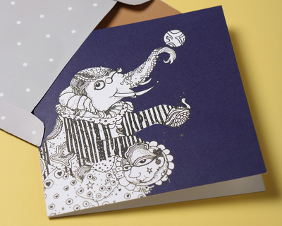 Jesper the elephant greeting card thumb