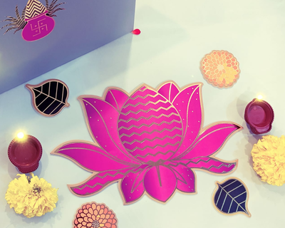 Lotus bloom rangoli thumb