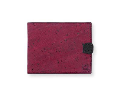 Arden minimal wallet maroon black thumb