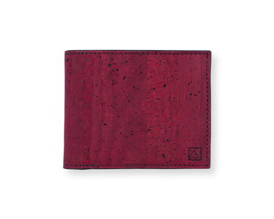 Gale men s slimfold wallet maroon black thumb