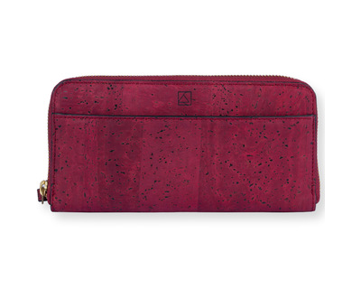 Willow zip around wristlet maroon thumb
