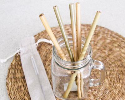 Neer reusable bamboo straw thumb