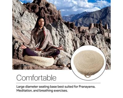 Zen handmade abaca meditation cushion thumb