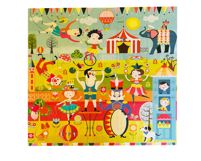 Playqid circus carnival jumbo giant jigsaw floor puzzle 25 huge piece puzzle for kids age 3 and above size 56 x 56 cm thumb