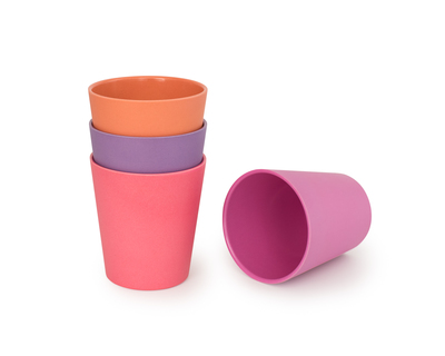 Sunset bamboo drinking cups set of 4 thumb