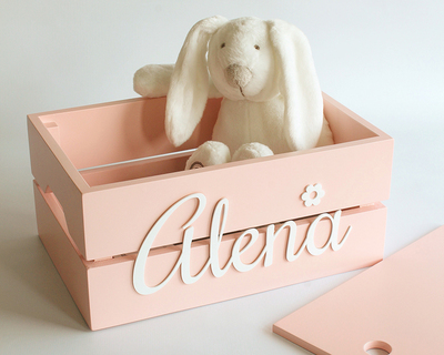 Personalized name box pink thumb