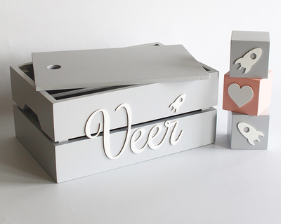 Personalized name box grey thumb