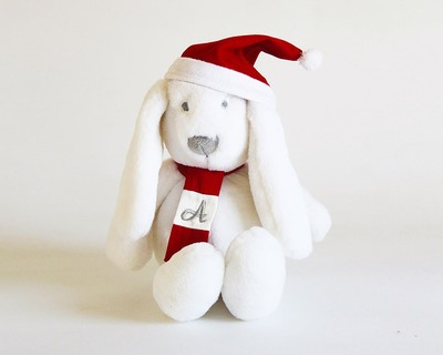 Personalized christmas bunny thumb