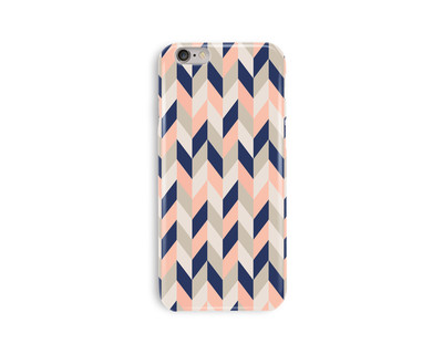 Peach chevron iphone 6 6s case thumb