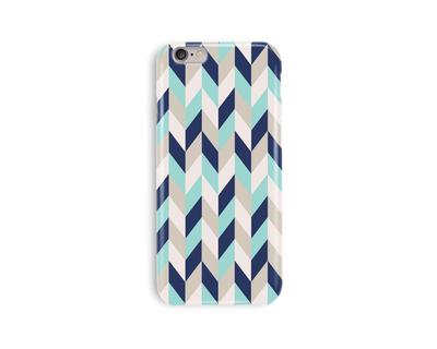 Blue chevron phone case thumb