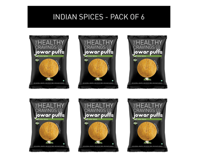 Roasted jowar puffs indian spices pack of 6 25g each thumb