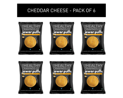 Roasted jowar puffs cheddar cheese pack of 6 25g each thumb