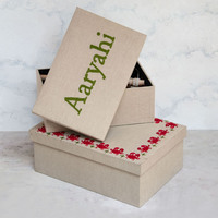 Red crab storage box small