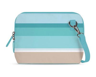 Symmetrical beach aquamarine mini shoulder bag thumb