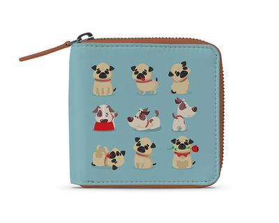 Playful dog zip wallet thumb