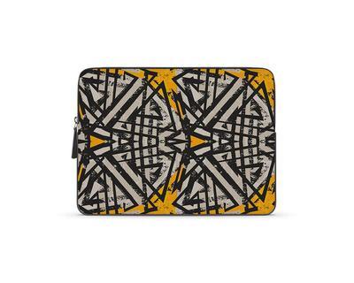 Coal patterns laptop sleeve thumb