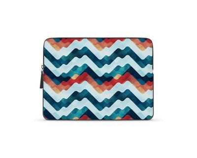 Coloured waves laptop sleeve thumb