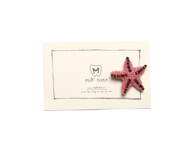 Starfish brooch pink thumb