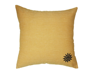 Ship s wheel embroidered cushion cover thumb