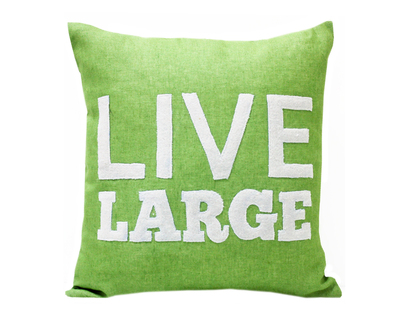Live large applique cushion cover thumb