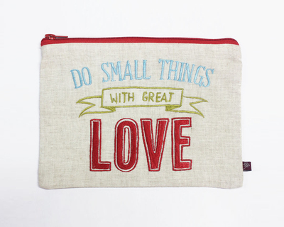 Type pouch utility do small things with great love thumb