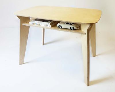 Draw wooden desk just birch thumb