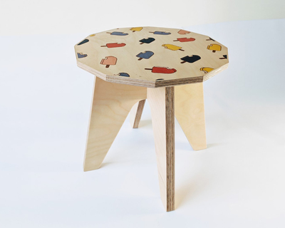Sit wooden stool ice candy thumb