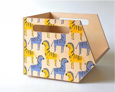 Stack stackable storage bin zany zebra thumb