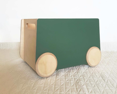 Roll rolling storage bin chalk board thumb