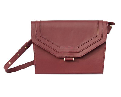 Overlapping master shoulder bag bordo thumb