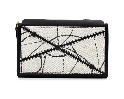Crossroad clutch snake print black thumb
