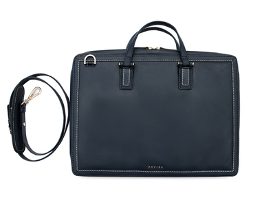 Sleek slip laptop bag navy thumb
