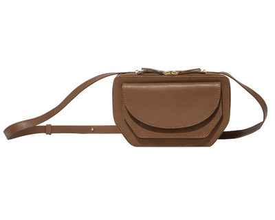 Twin zip crossbody rustic brown thumb