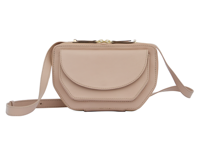 Twin zip crossbody pale pink thumb