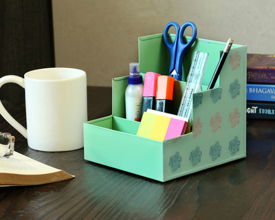 Multipurpose step organiser turquoise green thumb
