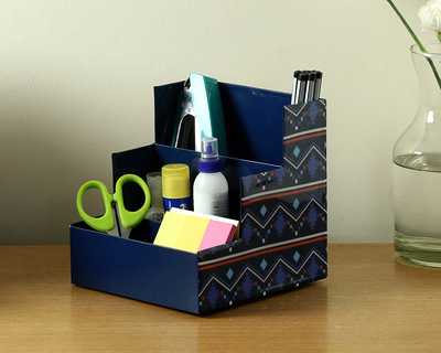 Multipurpose step organiser navy blue thumb
