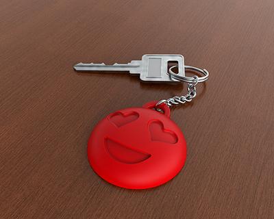 3d printed emoji keychain thumb