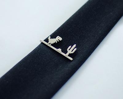 3d printed t rex tie pin thumb