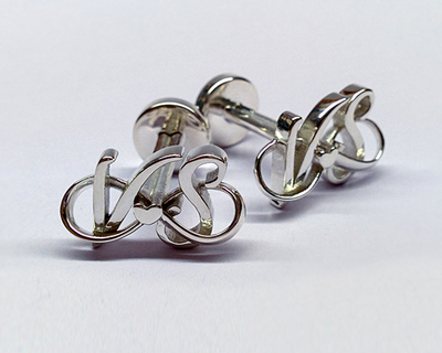 3d printed personalized eternal love cufflinks thumb