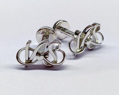 3d printed personalized eternal love cufflinks thumb