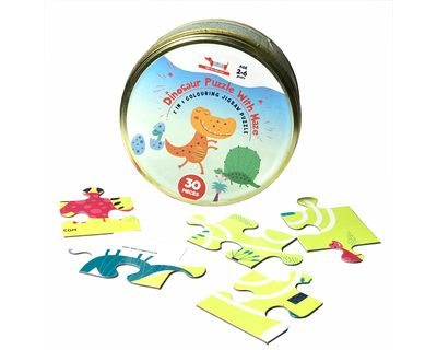 Kids dinosaur puzzle with maze 30 pieces thumb