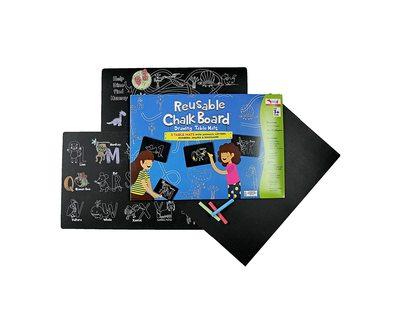 Reusable chalk board drawing table mats set of 3 thumb
