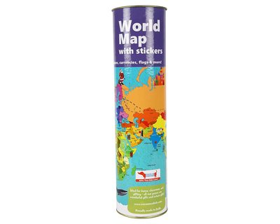 World map activity kit with reusable stickers thumb