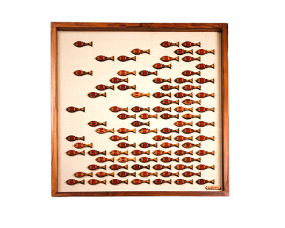 Pichwai fish wall art thumb