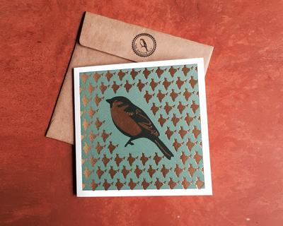 Greeting card golden sparrow 97 la09 thumb