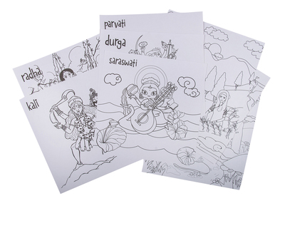 Colouring sheets goddess theme thumb